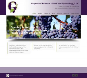 Grapevine Women's Health & Gynecology's website designed by Blackstone Edge Studios