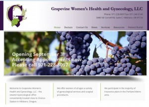 Grapevine Women's Health and Gynecology website designed by Blackstone Edge Studios