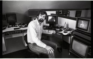 Philip Clayton-Thompson at his flatbed editing suite
