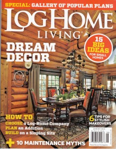 Log Home Living Cover